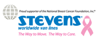 Stevens Van Lines & National Breast Cancer Foundation logo