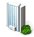 corporate office building icon