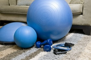 weights and medicine balls