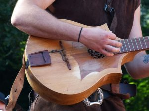 guitar player at music festival