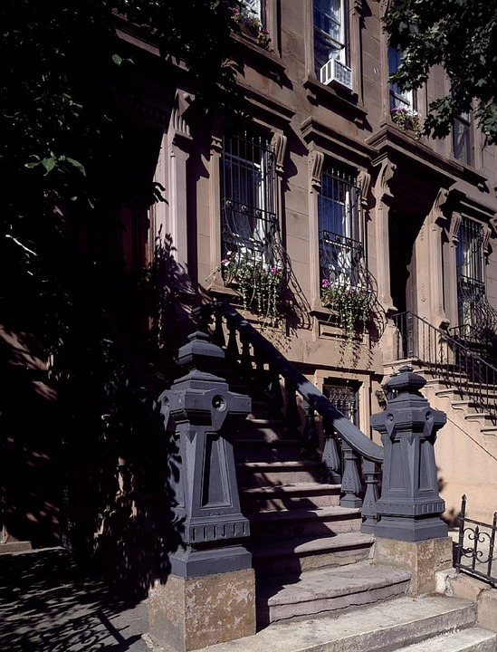 New York apartment steps