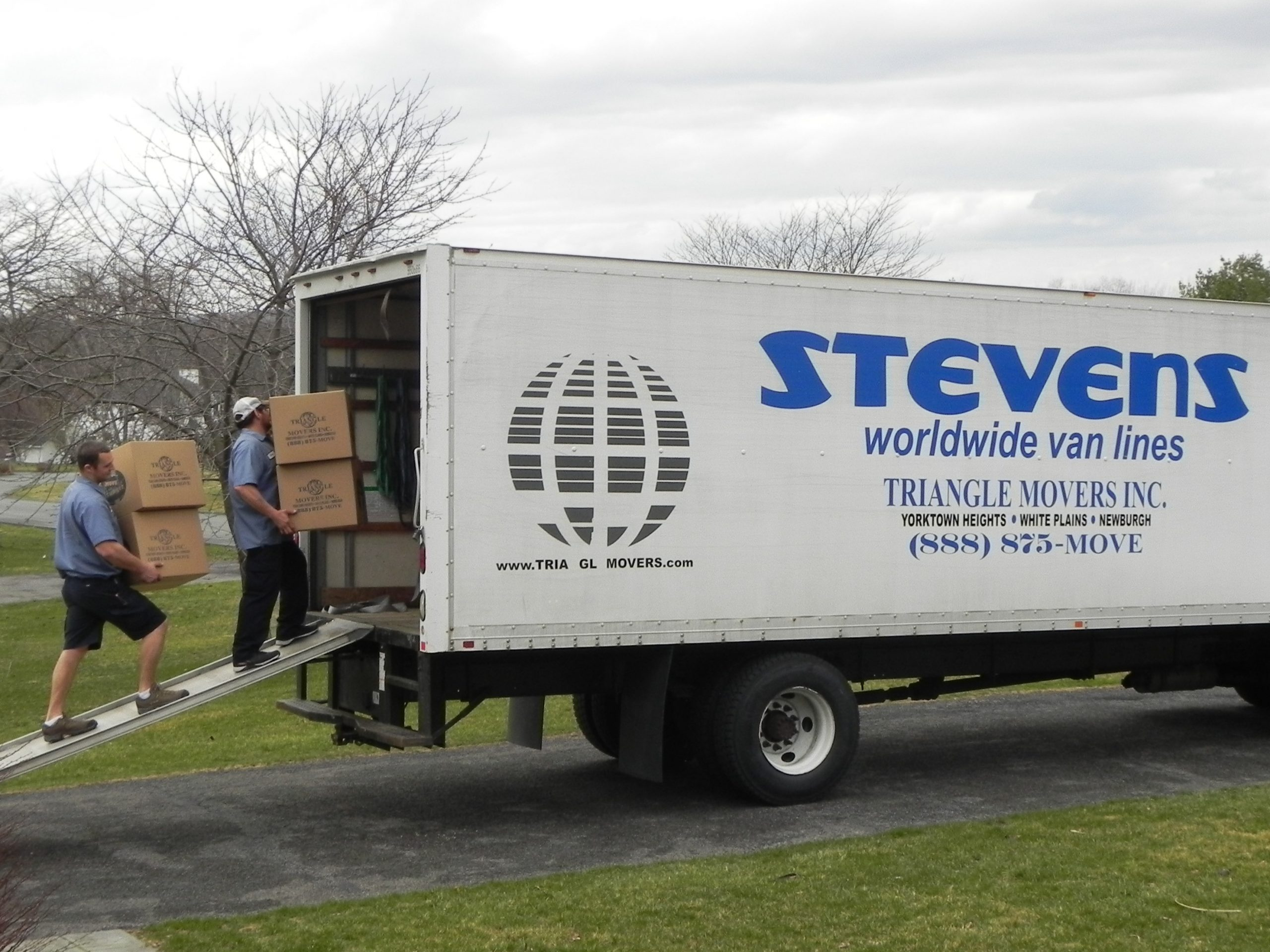 Triangle Movers loading moving truck